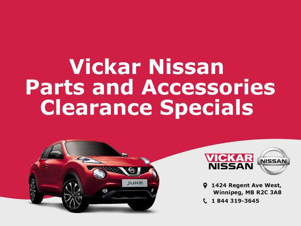 Vickar Nissan Parts And Accessories Clearance Specials Chez Vickar Nissan |  Winnipeg