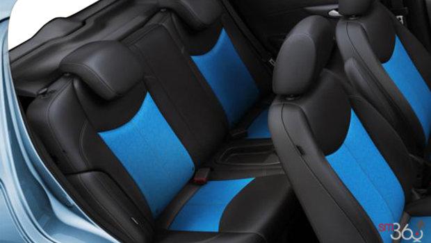 Similicuir noir jais/bleu
