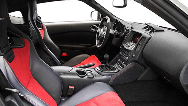 Black/Red Leather/Alcantara