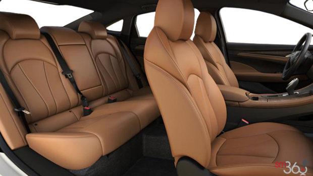 Sièges en cuir perforé cognac avec garnitures contrastantes intérieures ébène (HI9-A51)