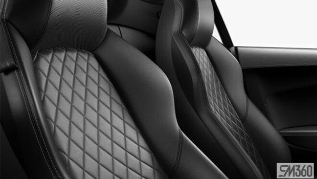 Black Nappa Leather Sport Seats/Rock Gray Diamond Stitch