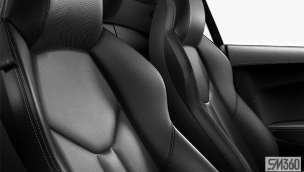 Black Nappa Leather Sport Seats/Rock Gray Stitching