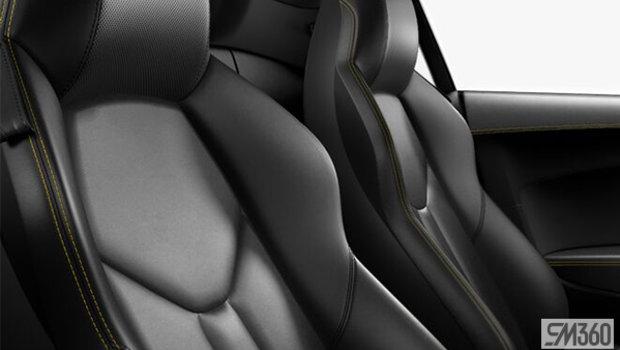 Black Nappa Leather Sport Seats/Vegas Yellow Stitching