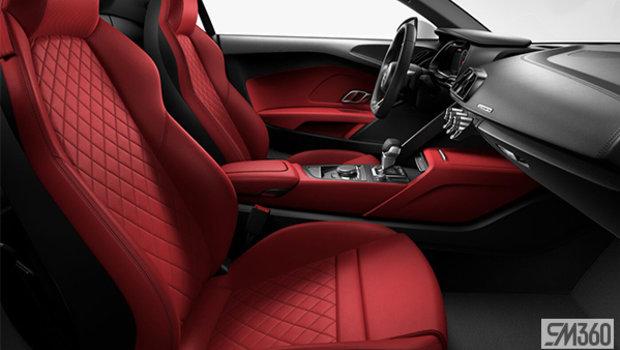 Express Red Nappa Leather Sport Seats/Steel Gray Diamond Stitch