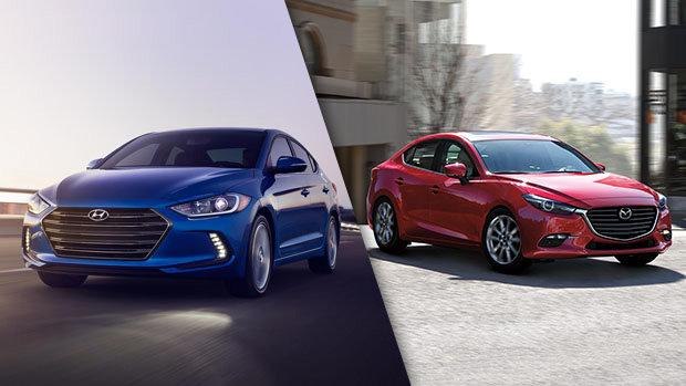 2018 Hyundai Elantra vs 2018 Mazda3 in Montréal