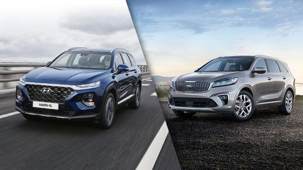 2019 Hyundai Santa Fe vs 2019 Kia Sorento in Montreal