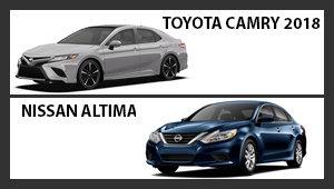 Toyota Camry 2018 versus Nissan Altima
