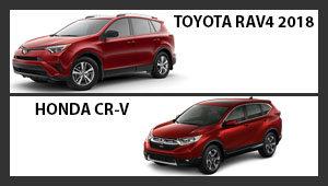 Toyota RAV4 2018 versus Honda CR-V