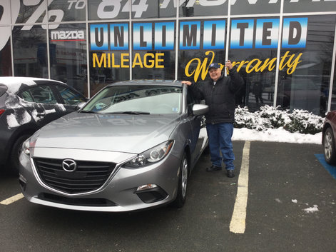Roger picking up his brand new Mazda 3!