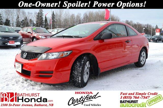 2010 Honda Civic Coupe DX G   Honda Certified One Owner! Spoiler!