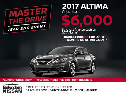 Save on the 2017 Altima!