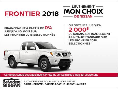 Frontier 2018 en rabais!