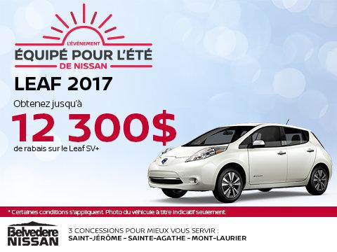 Économisez sur la Leaf 2017!