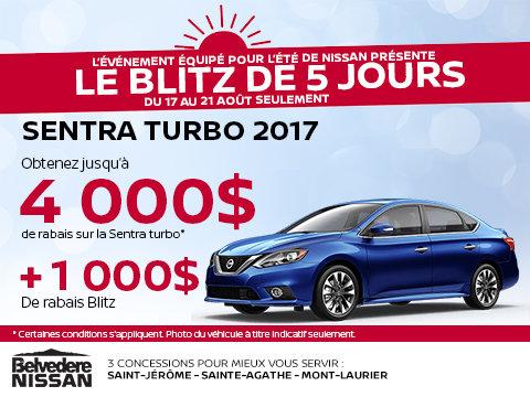 Sauvez sur la Nissan Sentra Turbo 2017