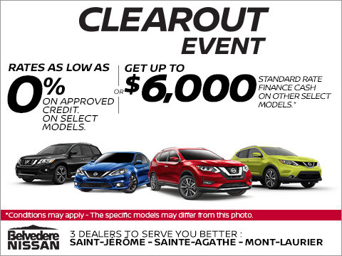 Nissan's 2018 Clearout Event!