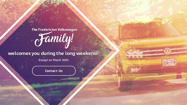 Fredericton Volkswagen et sa GRANDE FAMILLE Vous accueillent durant le long week-end (mobile)