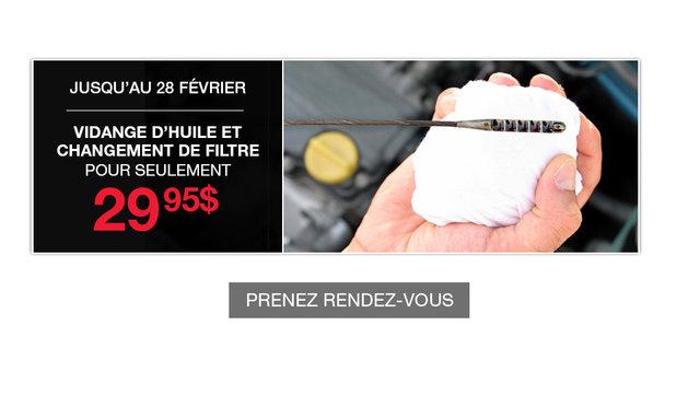 Promotion - Changement d'huile (mobile)