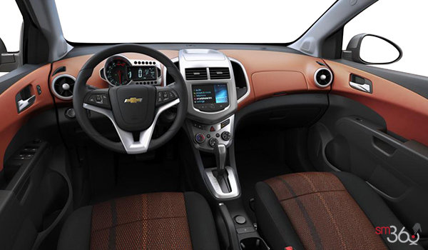 2016 Chevrolet Sonic Hatchback LT | Photo 3 | Jet Black/Brick Deluxe Cloth