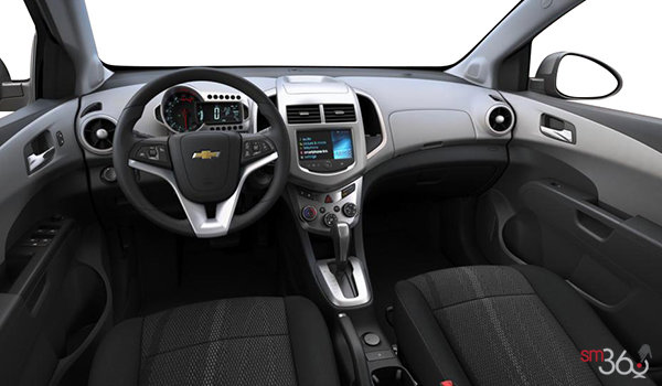 2016 Chevrolet Sonic Hatchback LT   Photo 3   Jet Black/Dark Titanium Deluxe Cloth