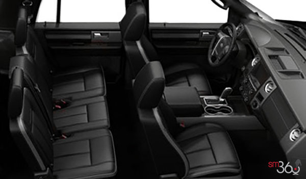 2017 Ford Expedition PLATINUM | Photo 1 | Ebony Leather with perforated inserts and Agate Tuxedo Stripe