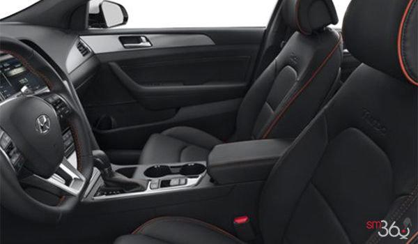 2017 Hyundai Sonata 2.0T SPORT ULTIMATE   Photo 1   Black Leather with Orange Piping