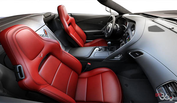 2018 Chevrolet Corvette Convertible Stingray 1LT | Photo 1 | Adrenaline Red GT buckets Perforated Mulan leather seating surfaces (701-AQ9)