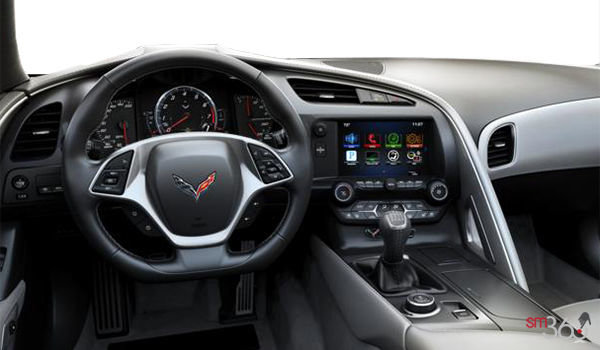 2018 Chevrolet Corvette Convertible Stingray 2LT | Photo 3 | Grey GT buckets Leather seating surfaces with sueded microfiber inserts (144-AQ9)