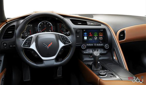 2018 Chevrolet Corvette Convertible Stingray 2LT | Photo 3 | Kalahari GT buckets Leather seating surfaces with sueded microfiber inserts (344-AQ9)