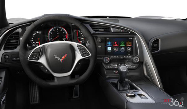 2018 Chevrolet Corvette Convertible Stingray 2LT | Photo 3 | Jet Black Competition Sport buckets Leather seating surfaces with sueded microfiber inserts (194-AE4)