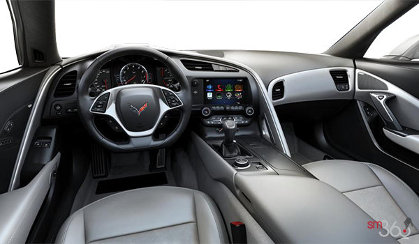2018 Chevrolet Corvette Coupe Stingray 3LT | Photo 2 | Grey GT buckets Leather seating surfaces with sueded microfiber inserts (146-AQ9)