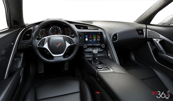 2018 Chevrolet Corvette Coupe Stingray 3LT | Photo 2 | Jet Black GT buckets Perforated Napa leather seating surfaces (195-AQ9)