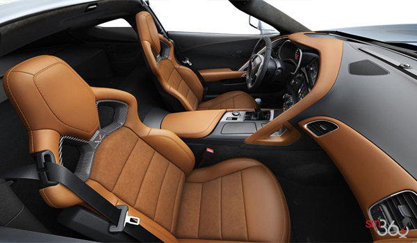 2018 Chevrolet Corvette Coupe Stingray 3LT | Photo 1 | Kalahari Competition Sport buckets Leather seating surfaces with sueded microfiber inserts (346-AE4)