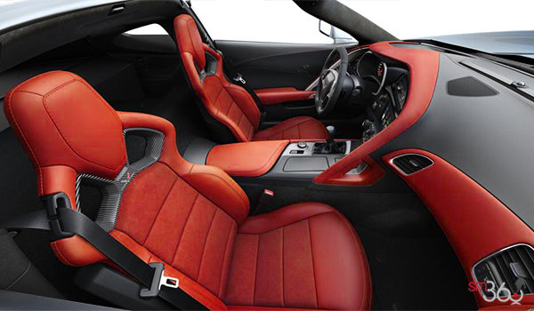 2018 Chevrolet Corvette Coupe Stingray 3LT | Photo 1 | Adrenaline Red Competition Sport buckets Leather seating surfaces with sueded microfiber inserts (706-AE4)