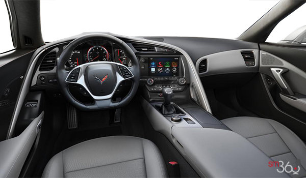 2018 Chevrolet Corvette Coupe Stingray 3LT | Photo 2 | Grey Competition Sport buckets Perforated Mulan leather seating surfaces (145-AE4)