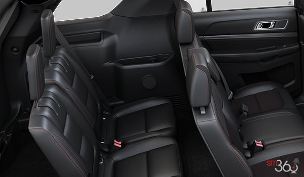 2018 Ford Explorer XLT | Photo 2 | Ebony Black with Fire Orange Contrast Stitching
