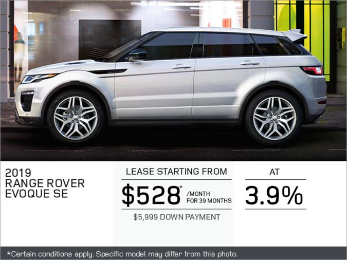 The 2019 Range Rover Evoque SE