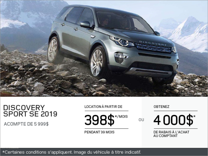 Le Land Rover Discovery Sport SE 2019
