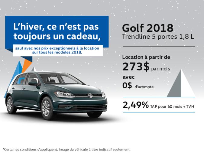 Obtenez le Golf 5 portes 2018 dès aujourd'hui!