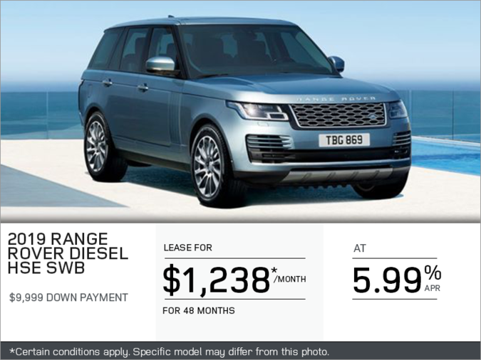 The 2019 Range Rover Diesel HSE SWB