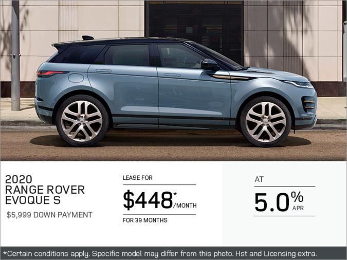 The 2020 Range Rover Evoque S