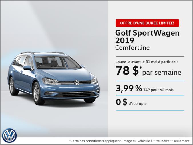 Louez la Golf SportWagen 2019!