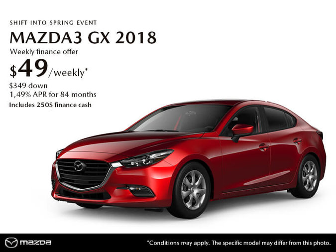 GET THE 2018 MAZDA3 GX TODAY!