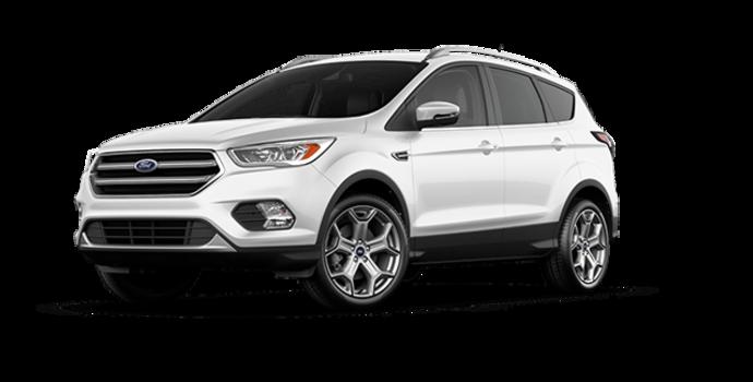 2017 Ford Escape TITANIUM   Photo 6   White Platinum