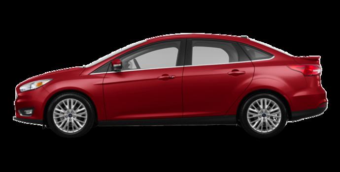 2017 Ford Focus Sedan TITANIUM | Photo 4 | Ruby Red Metallic