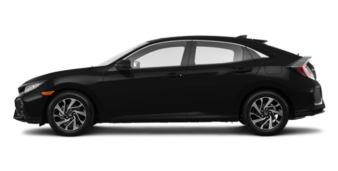 2017 Honda Civic hatchback LX   Photo 4   Crystal Black Pearl