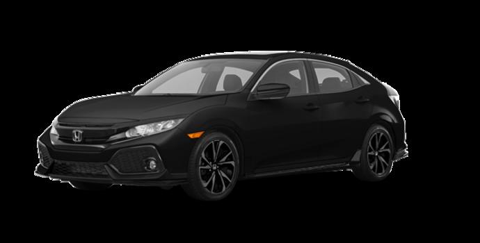 2017 Honda Civic hatchback SPORT   Photo 6   Crystal Black Pearl