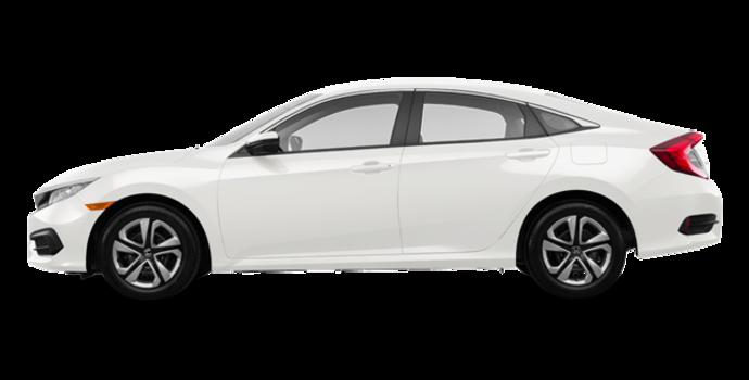 2017 Honda Civic Sedan LX-HONDA SENSING | Photo 4 | Taffeta White