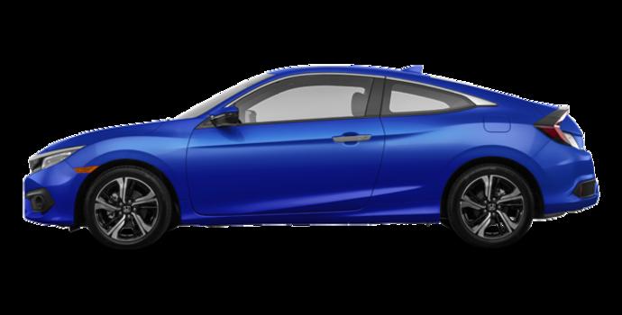 2017 Honda Civic Coupe TOURING | Photo 4 | Aegean Blue Metallic