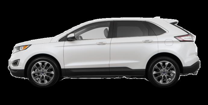 2018 Ford Edge TITANIUM   Photo 4   White Platinum Metallic Tri-Coat