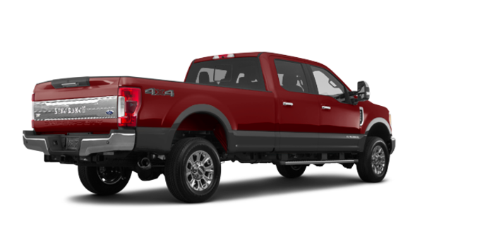 2018 Ford Super Duty F-250 KING RANCH   Photo 5   Magma Red/Stone Grey